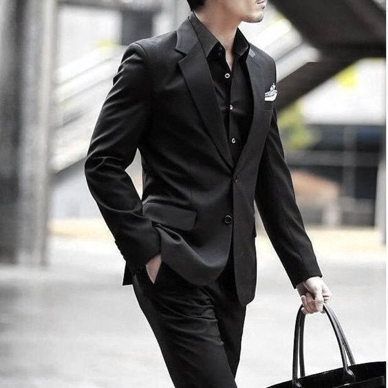 All Black Outfits Mens Business Fashion Stles