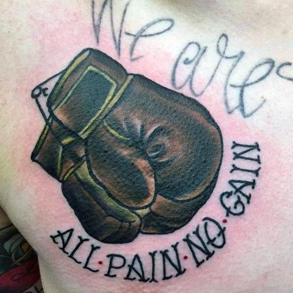 70 Boxing Gloves Tattoo Designs For Men