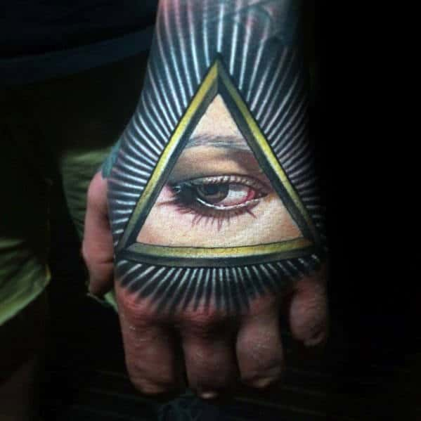 All Seeing Eye Badass Hand Tattoos For Gentlemen