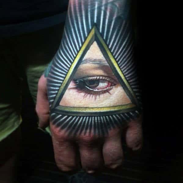 All Seeing Eye Badass Hand Tattoos For Gentlemen