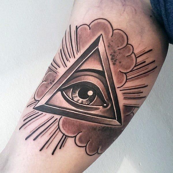 All Seeing Eye Inner Arm Tattoos For Men