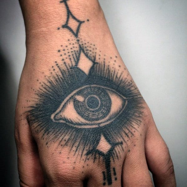 All Seeing Eye Unique Hand Tattoos For Guys