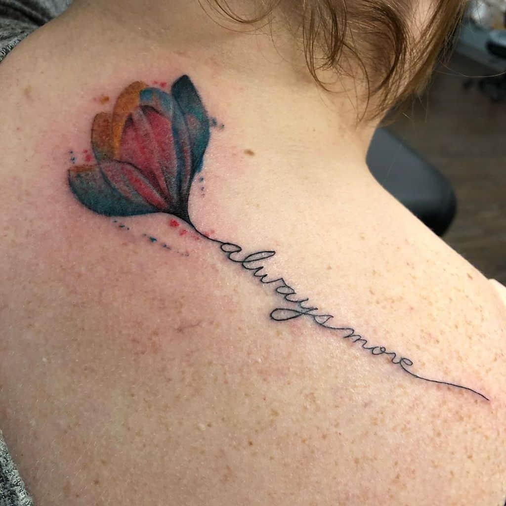 Always Move Tulip Tattoo