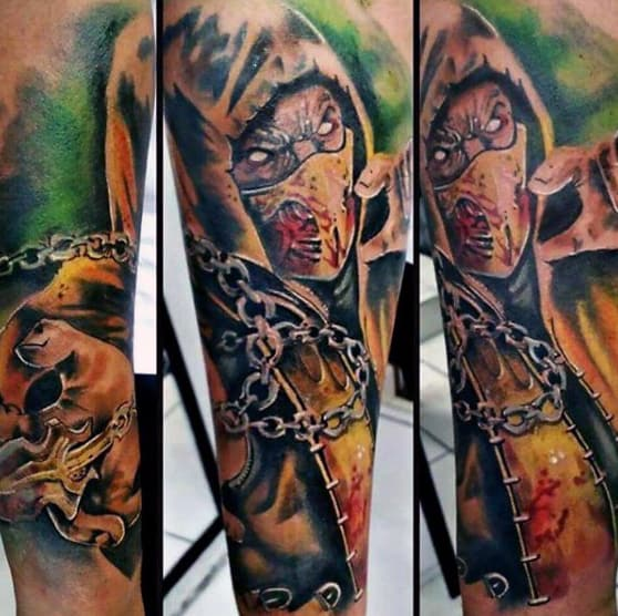 Amaizng Mortal Kombat Sleeve Tattoos For Men