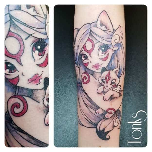 Amaterasu Okami Tattoos Tonks Tattoo