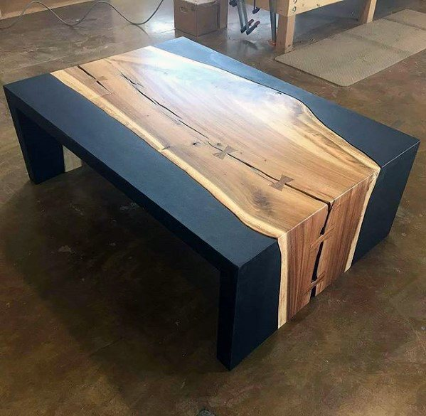 Amazing Bachelor Pad Furniture Wood Natural Coffee Table