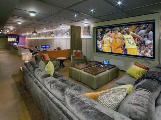 Amazing Basement Movie Room Design Inspiration