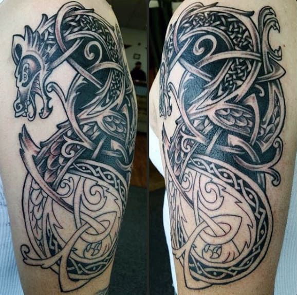 Amazing Dragon Celtic Tattoos For Men