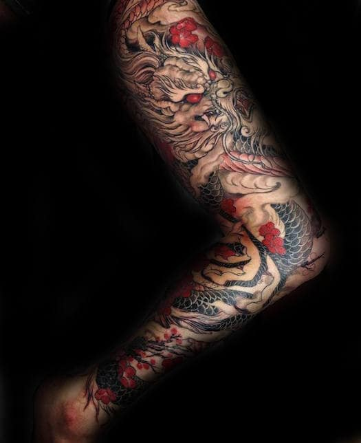 30 dragon leg tattoo designs for men masculine ink ideas. Black Bedroom Furniture Sets. Home Design Ideas
