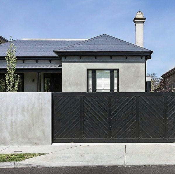 amazing contemporary black driveway gate designs - 37+ Modern Simple Gate Design For Small House  Gif