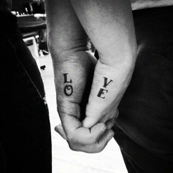 Top 100 best matching couple tattoos connected design ideas for Matching tattoos for couples in love