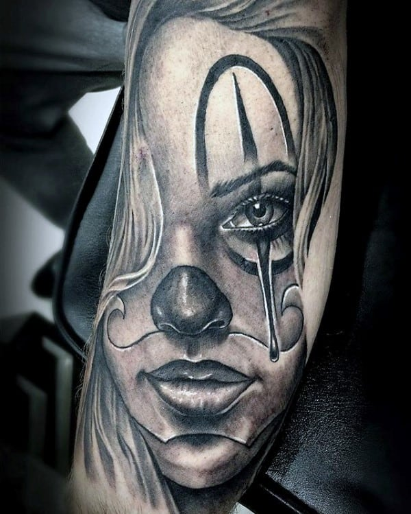 Amazing Guys Chicano Female Portrait Inner Arm Tattoo