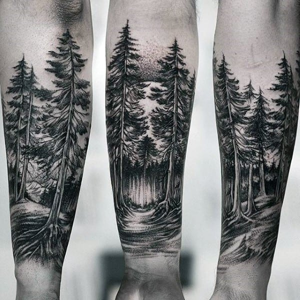 forest tattoo 1