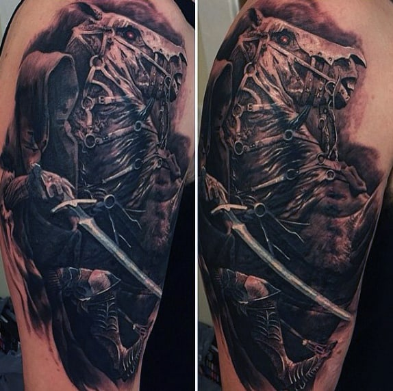 Amazing Guys Lord Of The Rings Arm Tattoo