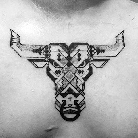 75 taurus tattoos for men zodiac ink design ideas
