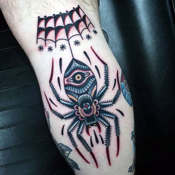 50 traditional spider tattoo designs for men webs of ideas