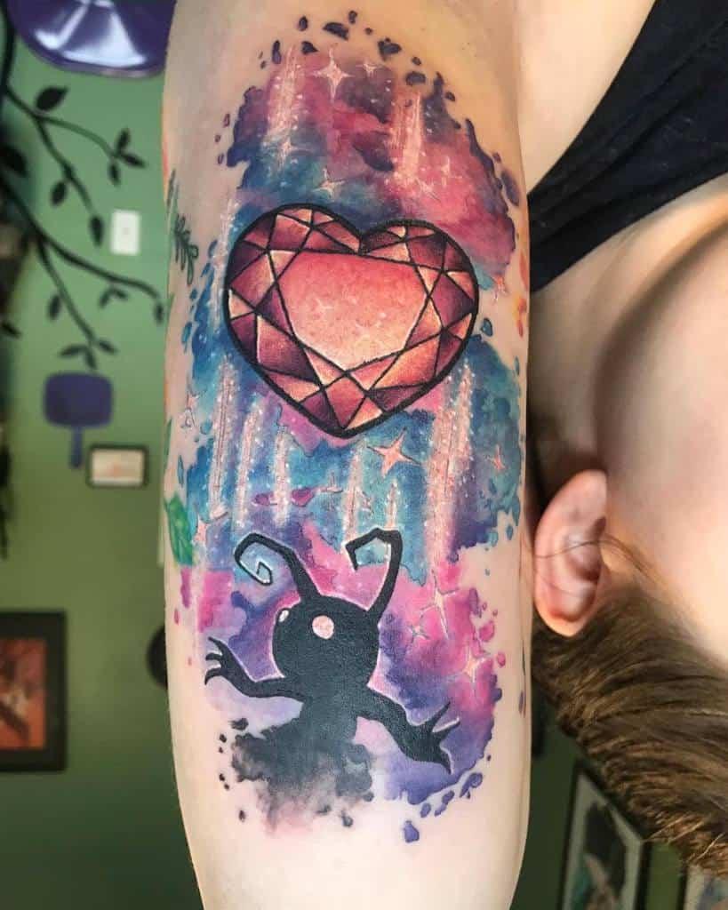 Amazing Heart Kingdom Heart Tattoo