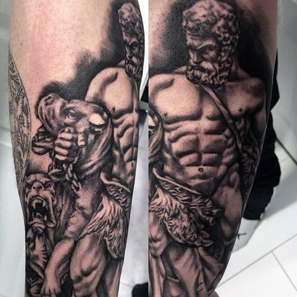 Amazing Hercules Mens Outer Forearm Tattoo