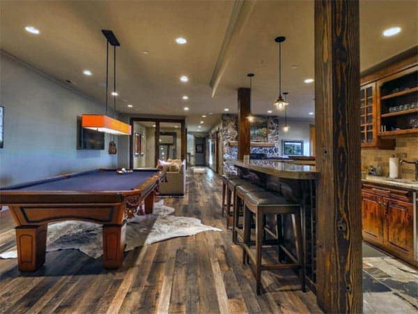 Amazing Ideas For Rustic Basements