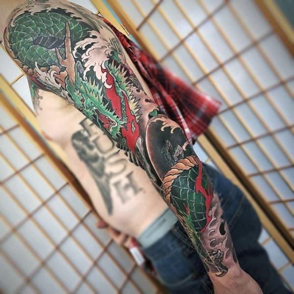 Amazing Japanese Sleeve Tattoo For Men