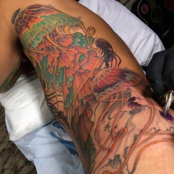 Amazing Jellyfish Tattoo Mens Arms