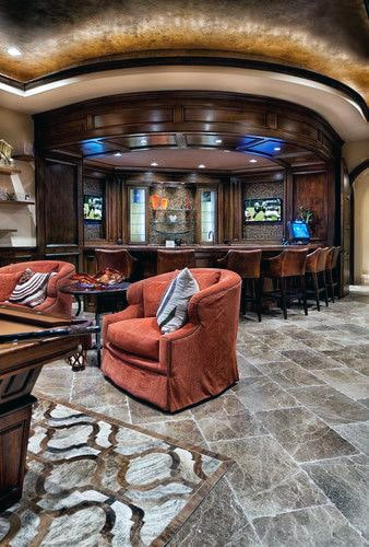 Amazing Luxury Man Cave Basement Lounge Design