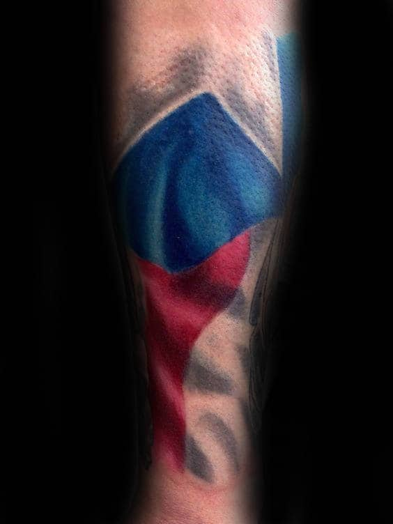 Amazing Male Forearm Sleeve Tattoo Of Texas State Flag