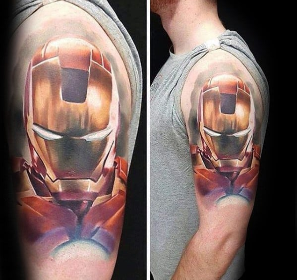 70 Iron Man Tattoo Designs For Men - Tony Stark Ink Ideas