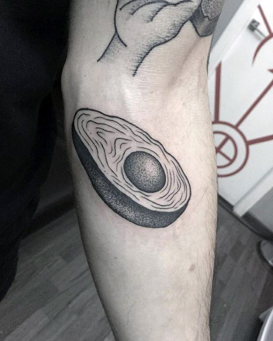 Amazing Mens Avocado Tattoo Designs