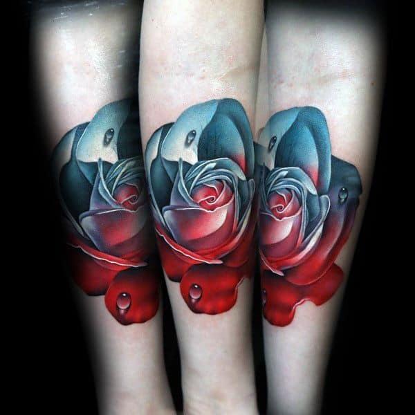 50 badass rose tattoos for men flower design ideas for Badass mens tattoos