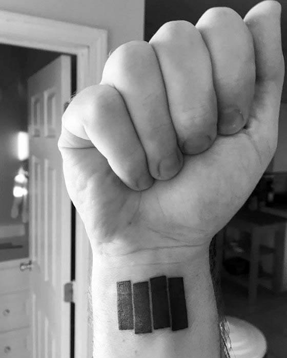 Amazing Mens Black Flag Tattoo Designs On Wrist