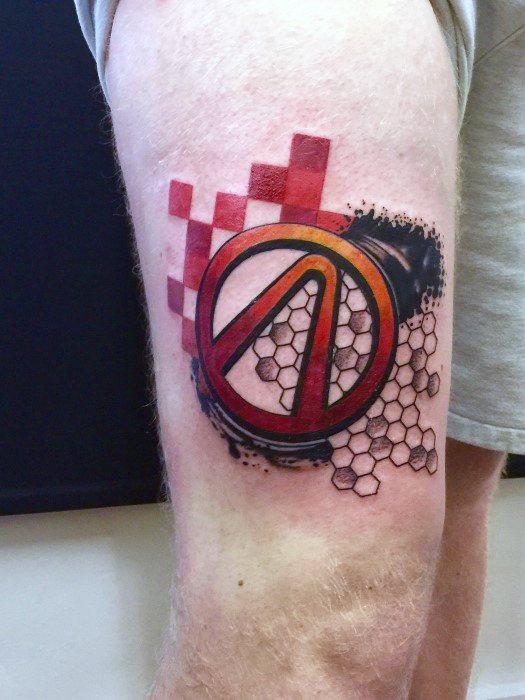 Amazing Mens Borderlands Tattoo Designs