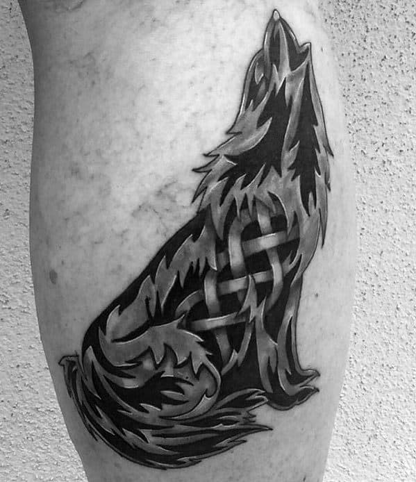 Amazing Mens Celtic Wolf Tattoo Designs