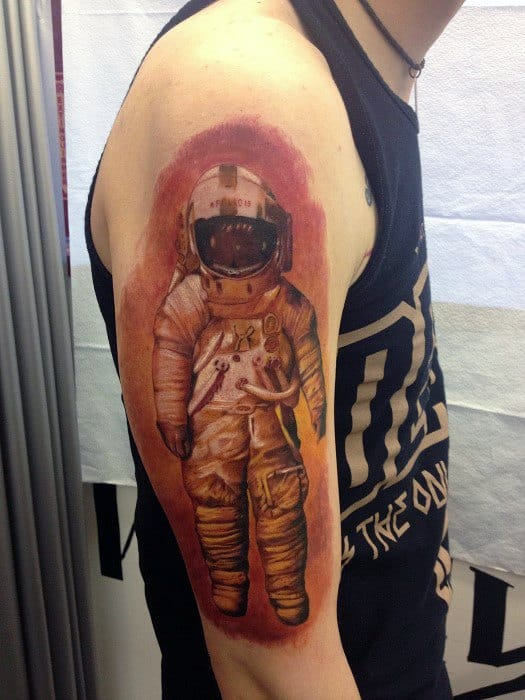 Amazing Mens Deja Entendu Tattoo Designs