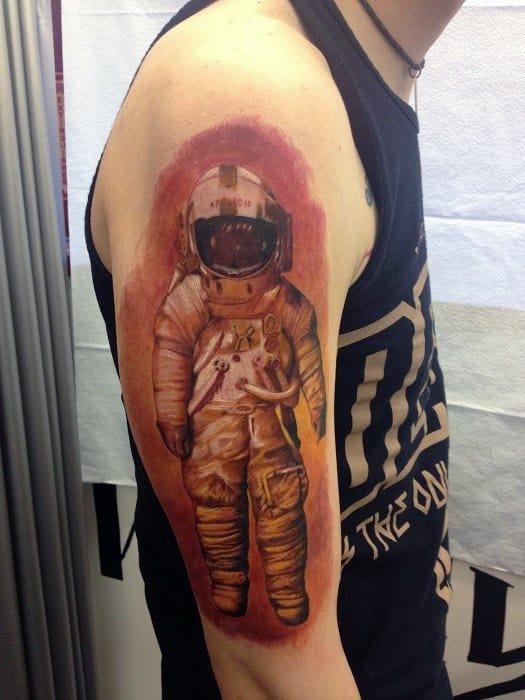 Amazing Mens Deja Entendu Tattoo Designs