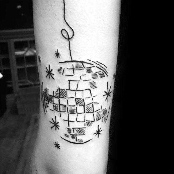 Amazing Mens Disco Ball Tattoo Designs