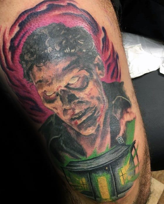 Amazing Mens Evil Dead Tattoo Designs