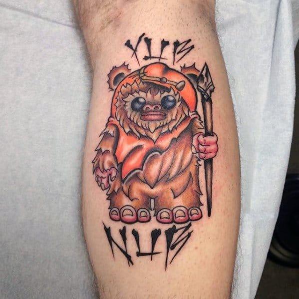 Amazing Mens Ewok Tattoo Designs
