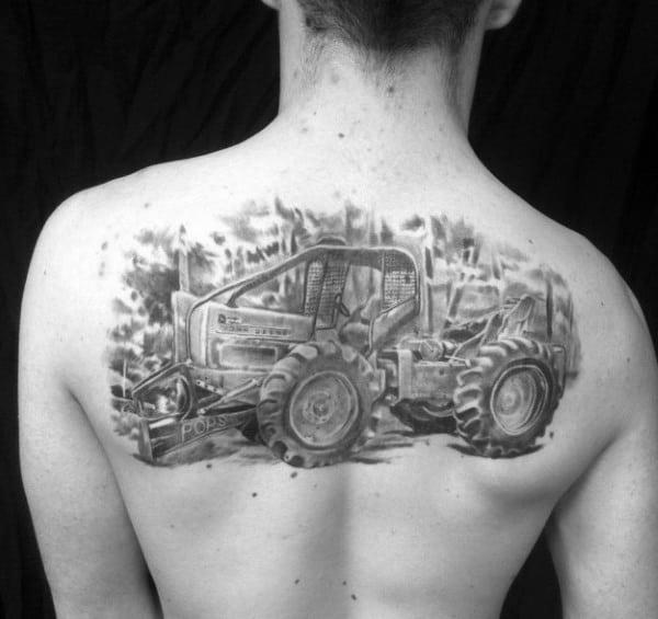 Amazing Mens Farming Tattoo Designs