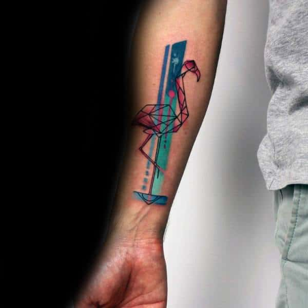 Amazing Mens Flamingo Tattoo Designs