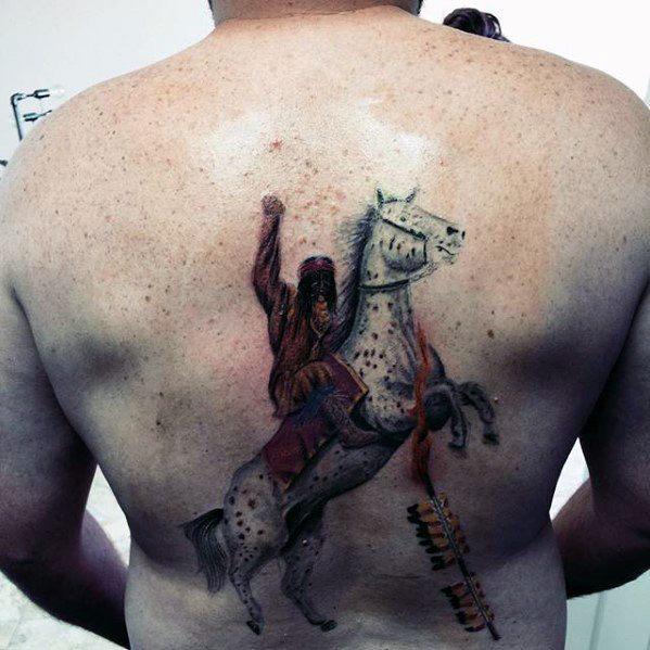 Amazing Mens Fsu Tattoo Designs On Back