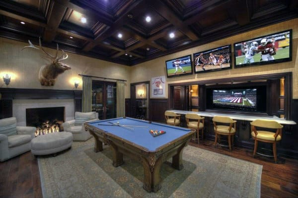 60 game room ideas for men cool home entertainment designs - Family game room ideas ...
