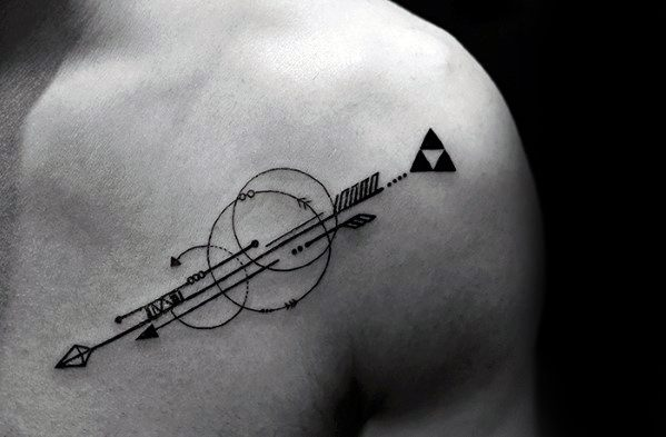 Amazing Mens Geometric Arrow Tattoo Designs