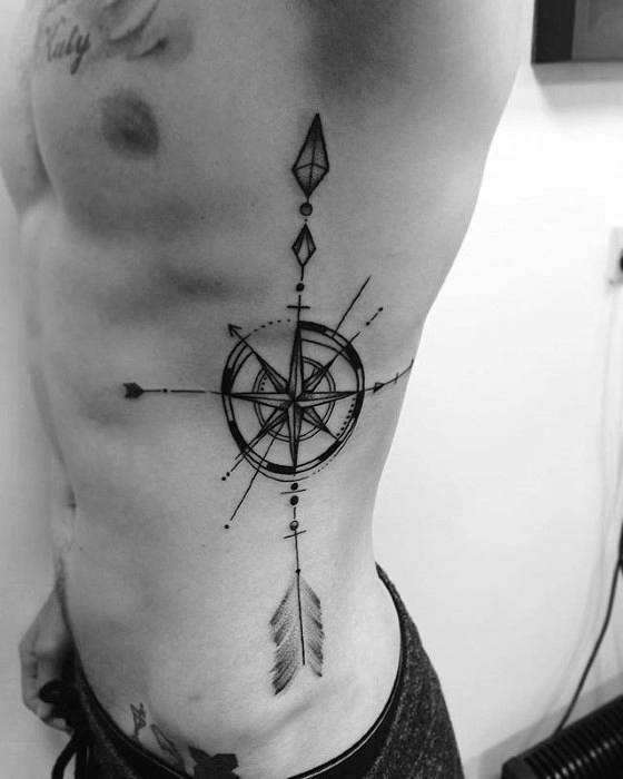 70 Compass Tattoo Designs For Men: 40 Geometric Compass Tattoo Designs For Men