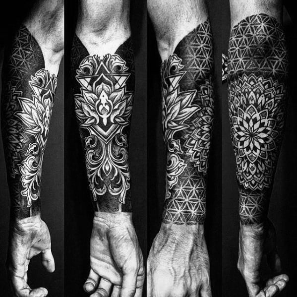 50 Geometric Forearm Tattoo Designs For Men