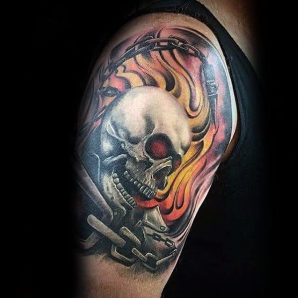 50 ghost rider tattoo designs for men supernatural