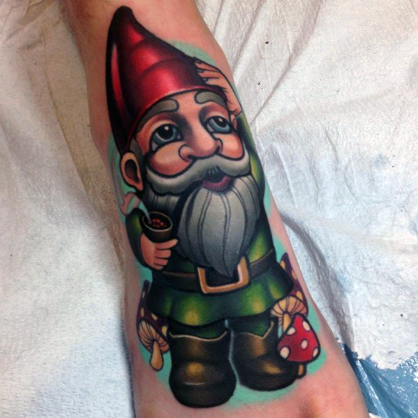 Amazing Mens Gnome Tattoo Designs