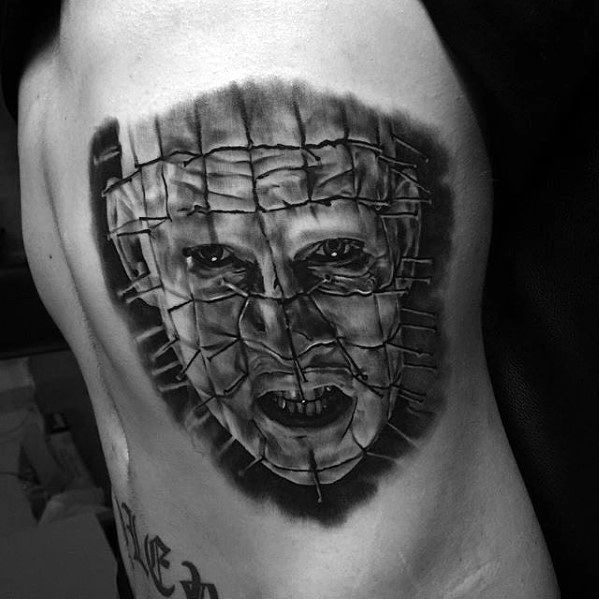 Amazing Mens Hellraiser Tattoo Designs