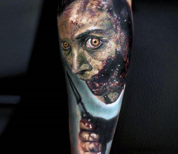 Amazing Mens Horror Movie Tattoo Designs