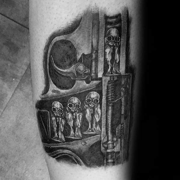 Amazing Mens Hr Giger Tattoo Designs
